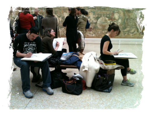BEGINNER'S DRAWING CLASS AT THE MET