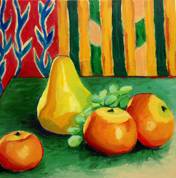 Student Artwork - The Art Studio NY - still life with fruit