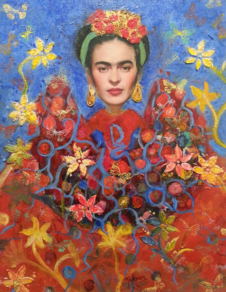 Student Artwork - The Art Studio NY - Frida Kahlo oil painting