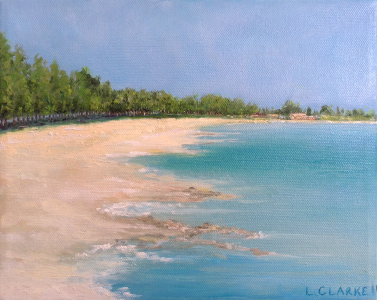 Louise Clark - The Art Studio NY - the beach painting