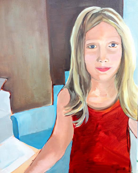 Louise Gore - The Art Studio NY - portrait of girl's face by new painter
