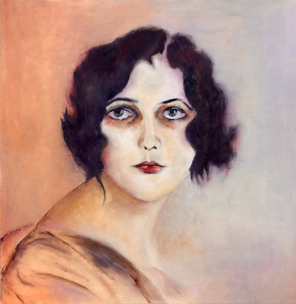 Student Artwork - The Art Studio NY - portrait of woman with 1920s style hair cut