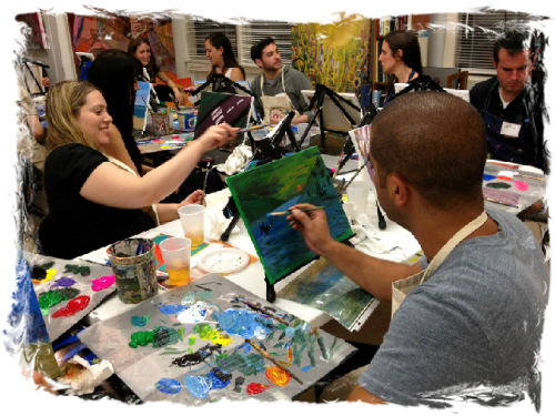1 Night BYOB Painting Class Party at The Art Studio NY