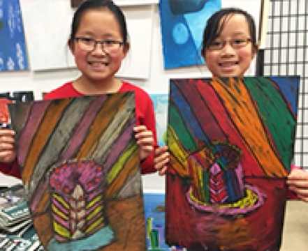Through our drawing and painting classes for kids, children can create their beautiful artworks themselves at home
